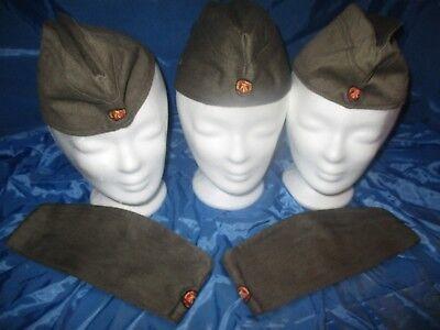 5 Stck. Militär - Mütze /  DDR , Nationale Volksarmee / Soldaten  NVA / Größe 57