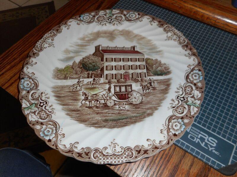 "Heritage Hall Johnson Brothers 10""dinner plate Georgian TownHouse Ironstone 4411"