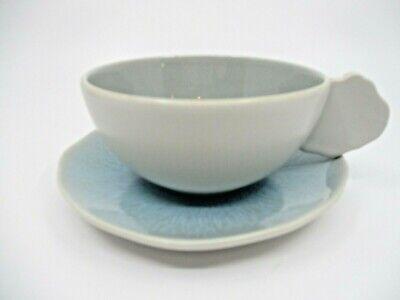 Ocean Blue Cup (JARS FRANCE PLUME OCEAN BLUE CUP & SAUCER - 2 1/8