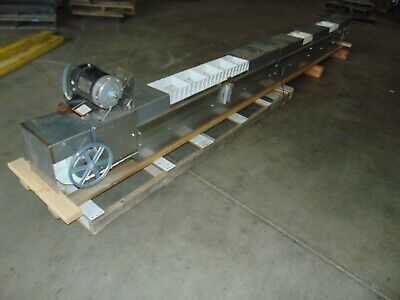 15 Stainless Steel Poly Lift Travel Food Service Belt Conveyor