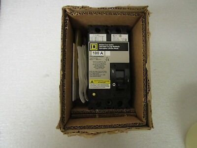 New Square D Molded Case 2 Pole 100 Amp Circuit Breaker Fhl26000m4200