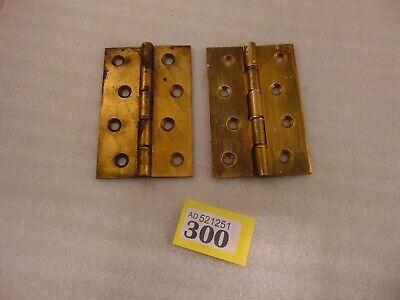 Brass Heavy Duty Door Hinges Vintage Antique Pair Of 4