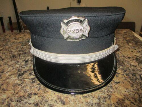 Vintage Memphis Fire Department uniform cap or hat w. pin sz 7 3/4