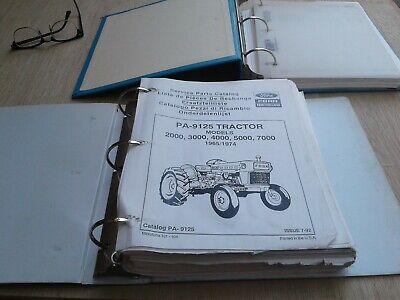 1965-1974 Ford Tractor Parts Catalog 2000 3000 4000 5000 7000 Pa-9125