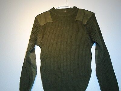 GENUINE USMC MARINE CORPS COLD WEATHER 100% WOOL SWEATER GREEN SIZE 38 SMALL G-5 for sale  Gautier