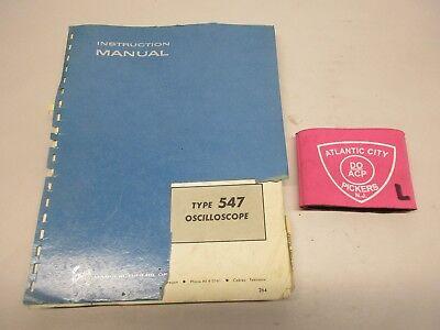 Tektronix Type 547 Oscilloscope Instruction Service Manual 070-398