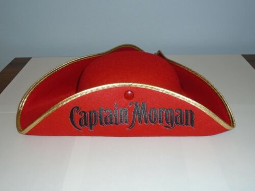 Captain Morgan Spiced Rum Red Pirate Hat Halloween Bar NEW