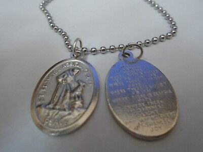 Jewels Obsession St Sterling Silver St Made In USA 18 Chain Francis Pendant Francis Pendant