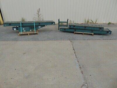 Hytrol Powered Belt Operated Roller Conveyor With Legs 208-230460v