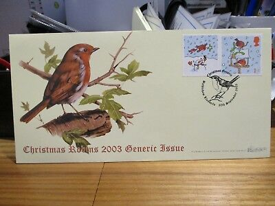 QC COLLECTION GB ALBUM AG BRADBURY 2003 CHRISTMAS ROBINS