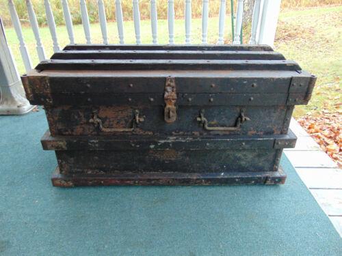 Industrial 1897 LG VANDERMAN STRONG BOX PAYROLL Shipping Trunk SNEDDON PETERSON