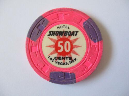 vintage Hotel Showboat Casino Las Vegas Nevada 50 cent Poker Chip