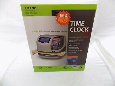 New Amano Atomic Pix-95 Time Clock Electronic Time Date Stamp Digital Lcd