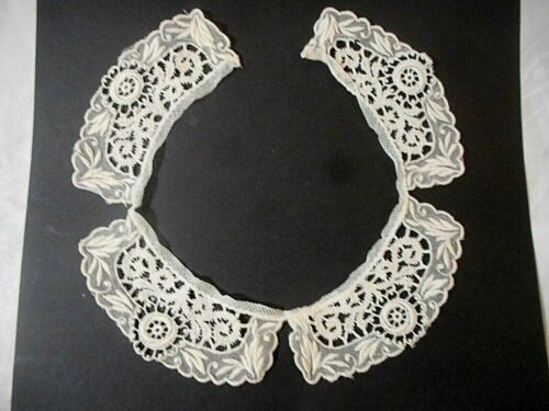 Delicate  Vintage Lace Collar  Ivory