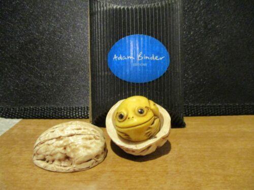 Harmony Kingdom Adam Binder Frog in Walnut Color Variation LE 50 RARE