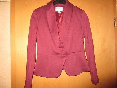 Gebraucht, H & M Damen Jersey-Blazer, bordeaux, Größe 38 gebraucht kaufen  Gronau