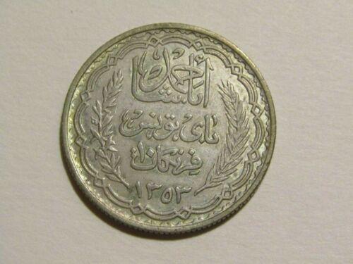 Tunisia 1934/1353 10 Francs Silver Coin