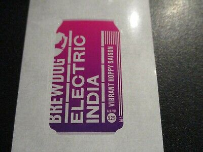 BREWDOG BREW DOG Electric India Can 15 STICKER DECAL craft beer brewery