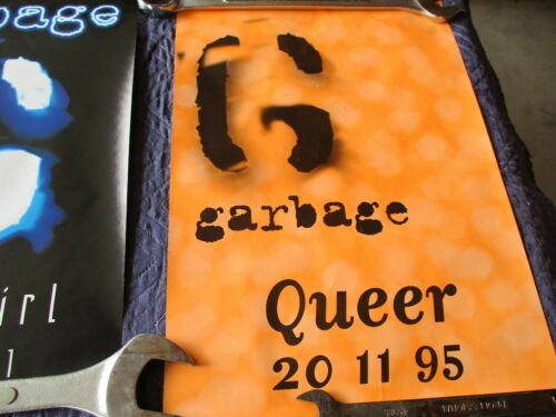 GARBAGE (LOT OF 3 PROMO POSTERS) STUPID GIRL AND QUEER 20-11-95