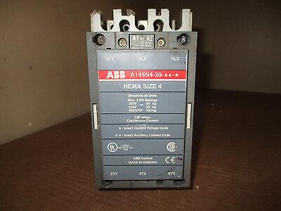 Abb A145n4-30 Startercontactor A145 A145n4-30-11-84 Nema Size 4 Coil 120 V