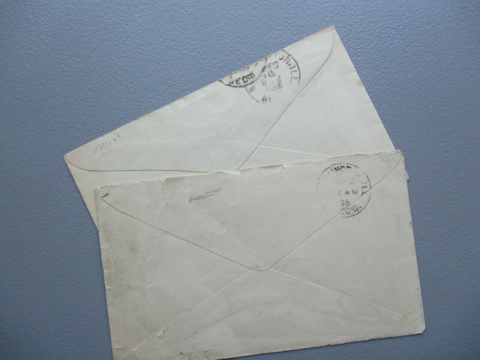 1895-96 2 Lost Springs,Kansas To Bloomington,Illinois Postmarked Covers,stamps - $9.99