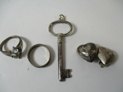 17.2 Grams, Gram, Sterling Silver Jewelry, Wear or Scrap, Rings, Earrings, More