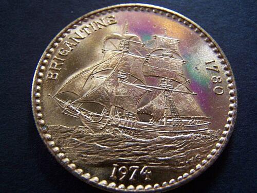 1974 Poseidon (HAS) BRIGANTINE Copper Mardi Gras Doubloon