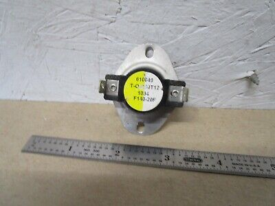 """THERM-O-DISC 36TVH01B3-44803//L140-20F 3/"""" INSERTION LIMIT SWITCH OPEN@140"""