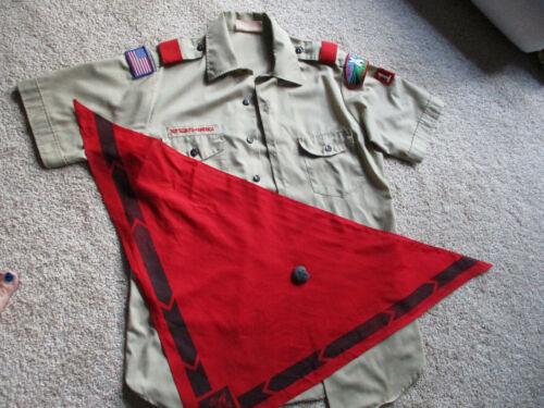 Boy Scouts Official Tan Short Sleeve Shirt Uniform Men