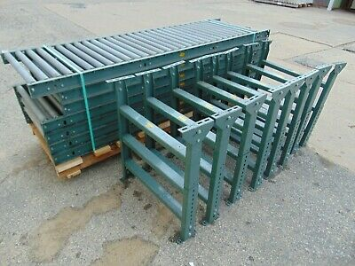 7 Sections Of Hytrol Gravity Roller Conveyor With Legs