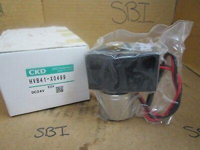 Ckd Solenoid Valve Hvb41-x0499 Hvb41x0499 24 Vdc 14 Npt New