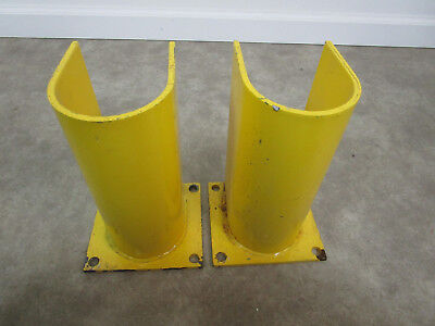 Pair Of Pallet Rack Upright Post Guard Frame Racking Boot Protector 2 Pieces