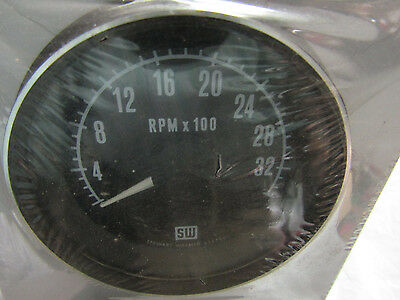 STEWART WARNER BLACK PANEL TACHOMETER READ ALL DESCRIPTION BELOWNO MORE INFO