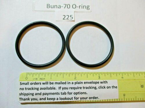 "225 O-ring 1-7/8"" ID x 2-1/8"" OD x 1/8"" thick. Buna-70.   Quan 2."