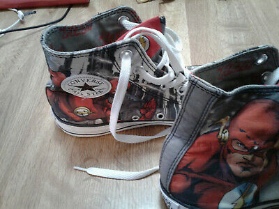 CONVERSE ALL STAR HI TOPS  Flash DC Comics MENS 6 WOMENS 8 UNISEX](Converse All Star Cheap)