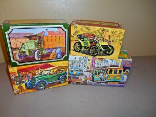 Vintage Avon Big Mack Truck Cable Car Classic Cars Decanters w/ Original Boxes