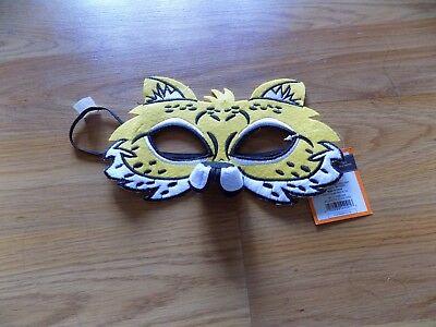 Child Kids One Size Leopard Cat Felt Halloween Costume Eye Mask New Yellow
