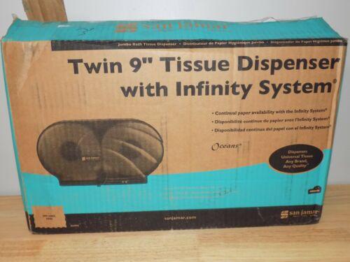 "San Jamar Twin 9"" Tissue Dispenser with Infinity System R4090TBK JBT Oceans"