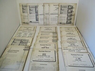 22 - McCulloch Tools Parts Chain Saw Engines Dealer Manual Equipment Vintage L1