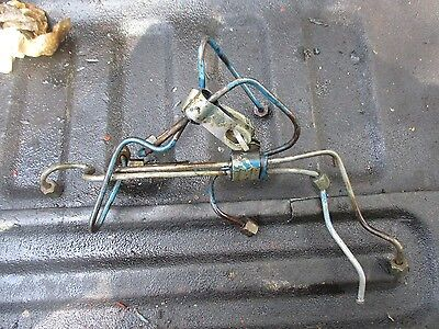 1979 Ford 6600 4 Cylinder Diesel Farm Tractor Fuel Injector Lines Free Ship