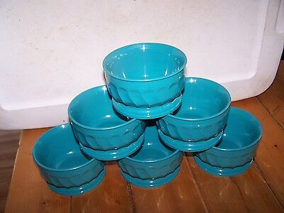6 Dinex Turnbury 5oz Insulated Bowl 3300 Made In Usa -teal Blue Green