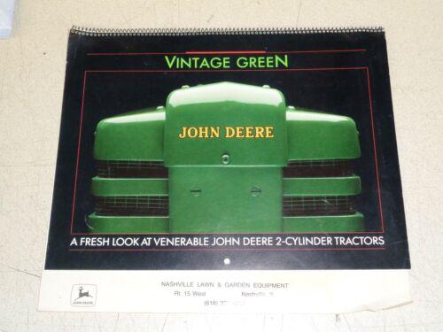 1989 John Deere Dealer Calendar B G H 62 L R Diesel 60 320 330 430 Nashville  IL