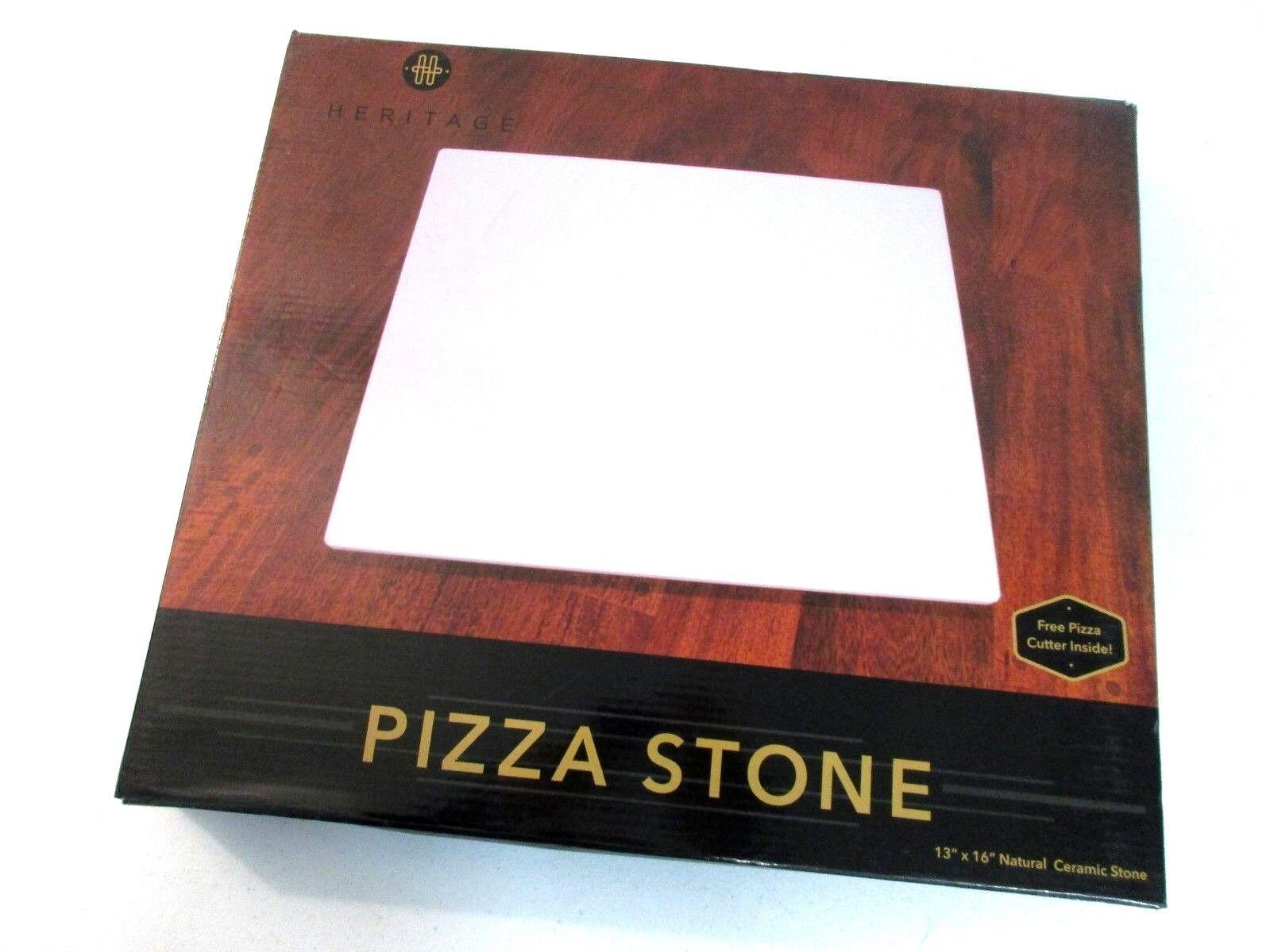 "Heritage Ceramic Pizza Stone 13"" x 16"" Baking Stones for"