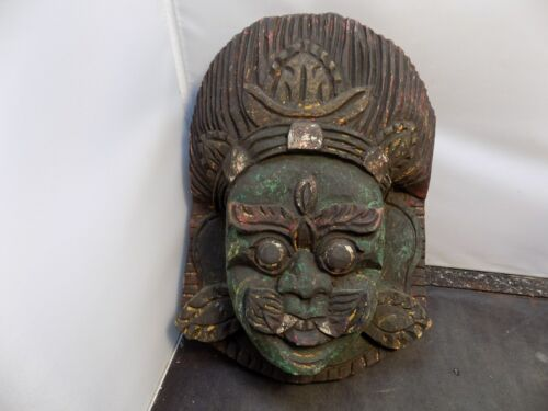 vintage  asian  carved Mask