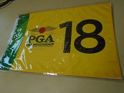 2016 Pga Championship Baltusrol Golf Pin Fahne Bestickt Neu Loch 18 Gelb