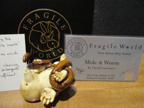 Harmony Kingdom MPs Fragile World Mole & Worm Marble Resin Figurine