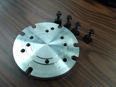 6 Base Adapter Plate Mount Chucks On Rotary Table Or Milling Machine In-adp-6