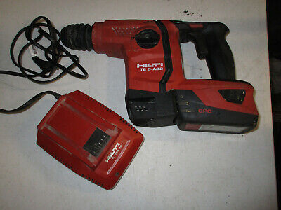 Hilti Te 6-a22 22v Cordless Rotary Hammer Drill W1 Battery Charger