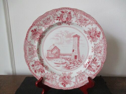 Early 20th Century Souvenir Plate Old Scituate Light Lighthouse Massachusetts