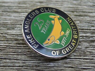 PIKE ANGLERS CLUB OF GREAT BRITAIN 1977-2002 Centenary Fishing Angling Pin Badge